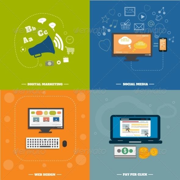 GraphicRiver Web Design Seo Social Media and Pay Per Click 7829528