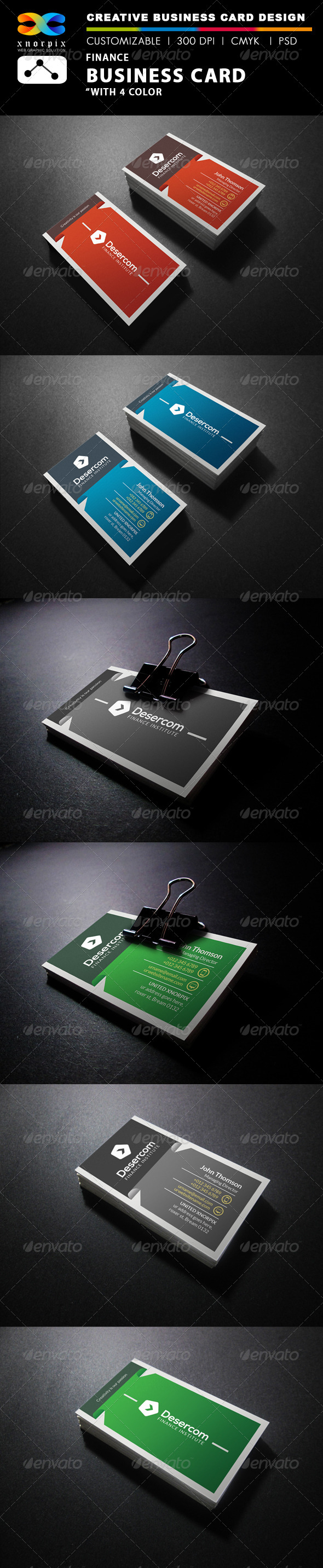 GraphicRiver Finance Business Card 7829534