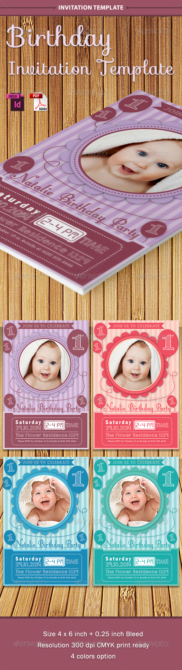 GraphicRiver Baby Birthday Template Vol 1 7829748