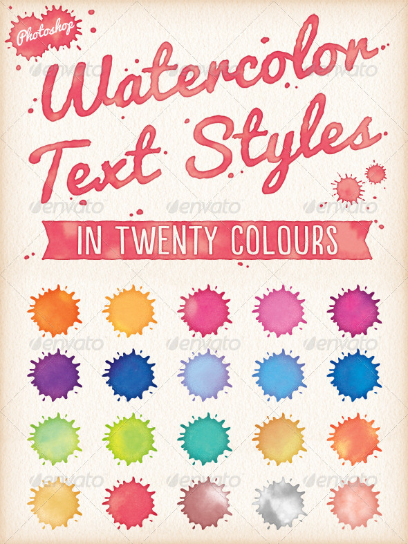 GraphicRiver Watercolor Text Styles 7829750
