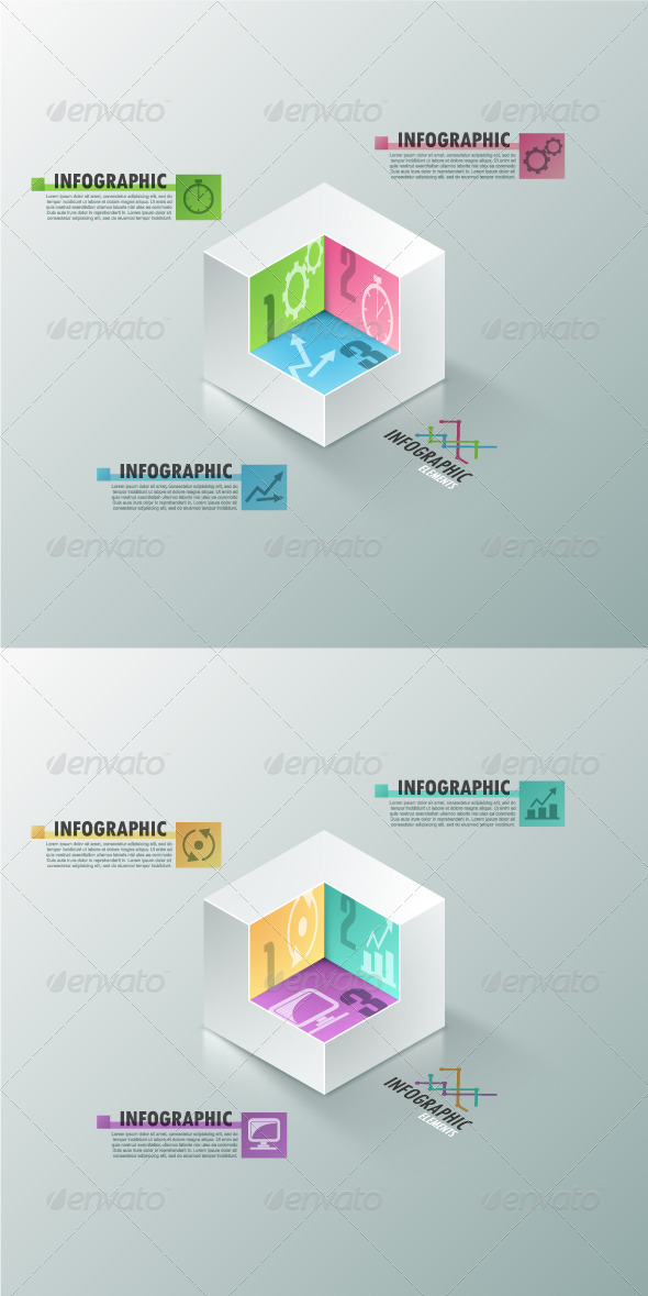 GraphicRiver Modern Infographic Options Banner 2 Versions 7829820