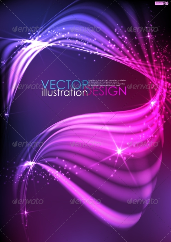 GraphicRiver Abstract Neon Waves 7829859