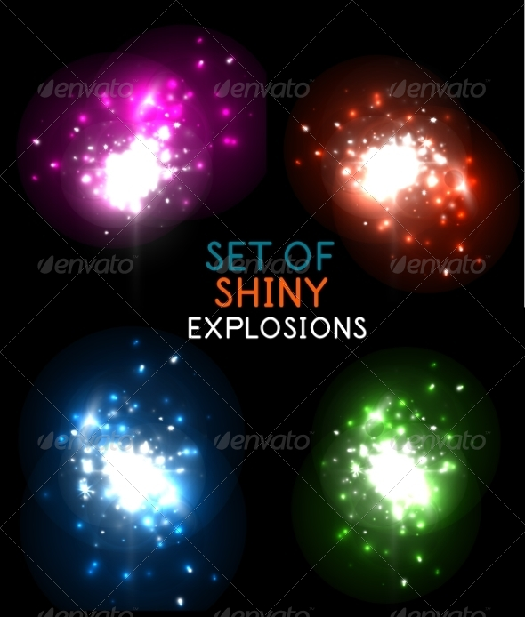 GraphicRiver Explosion with Sparkles Design Collection 7830206