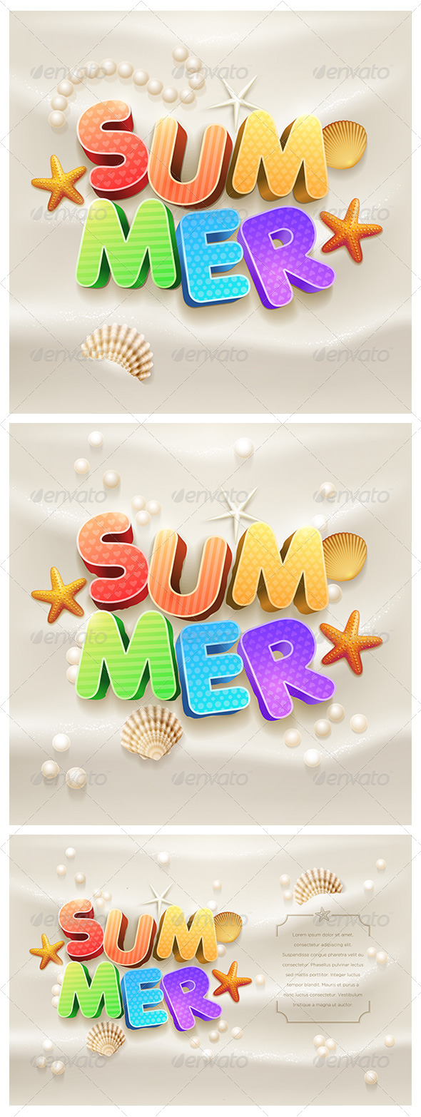 GraphicRiver Summer Design Set 7830340
