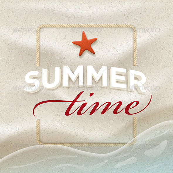 GraphicRiver Summer Message On Beach Sand 7830354