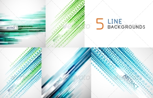 GraphicRiver Collection of Straight Line Backgrounds 7830433