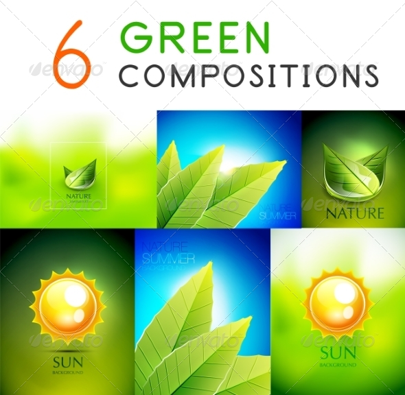 GraphicRiver Collection of Green Summer Concepts 7830460