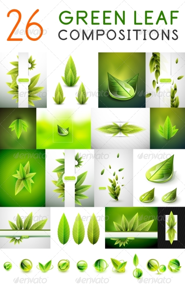 GraphicRiver Mega Collection of Green Summer Concepts 7830479