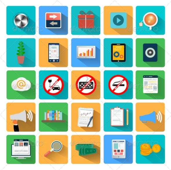 GraphicRiver Set of Business Icons 7830498