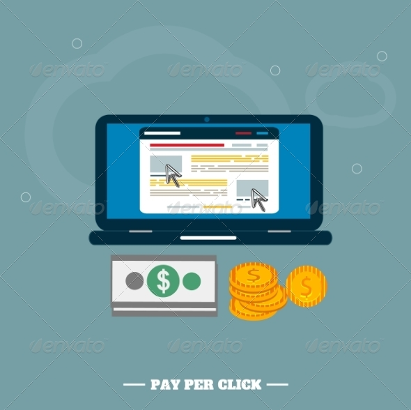 GraphicRiver Pay Per Click Internet Advertising Model 7830734