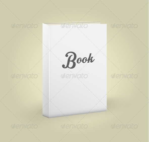 GraphicRiver Front View of Blank Book 7830831