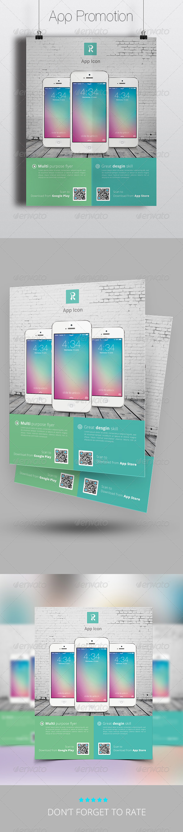 Phone App Promotion Flyer Template