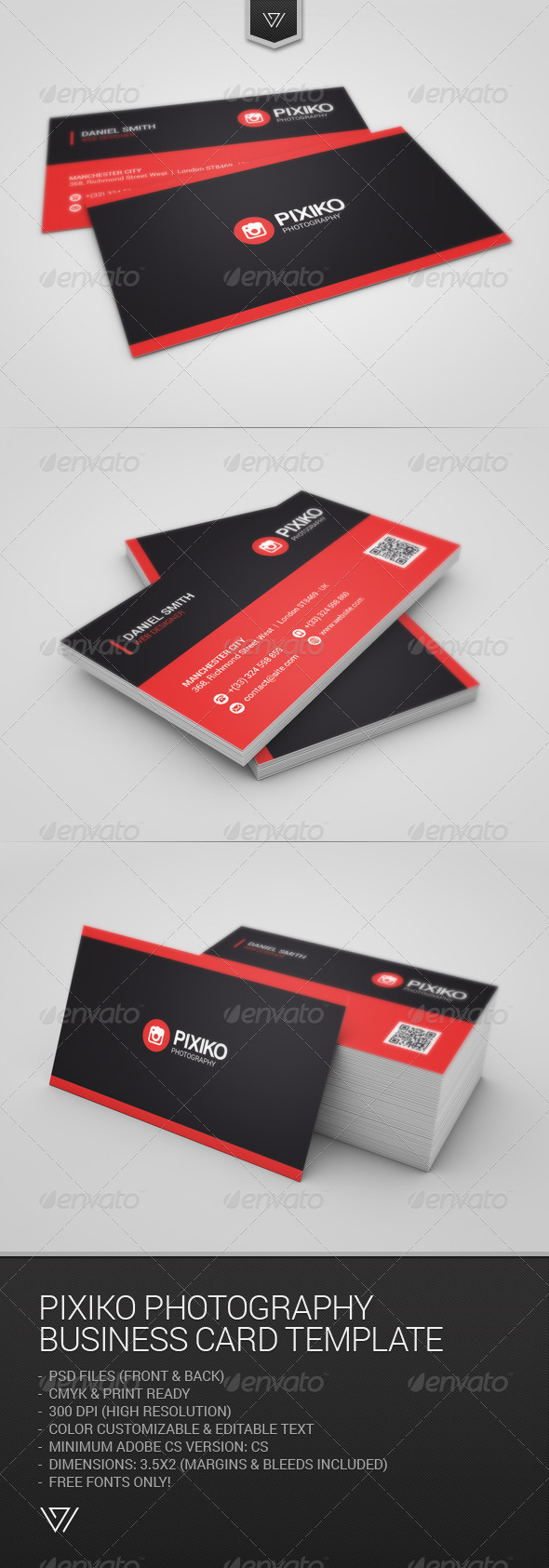 GraphicRiver Pixiko Photography Business Card 7831304