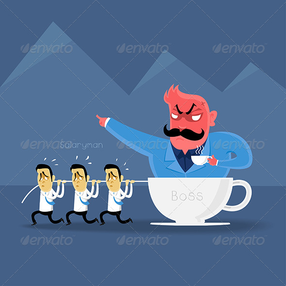 GraphicRiver Bad Boss Coffee 7831365