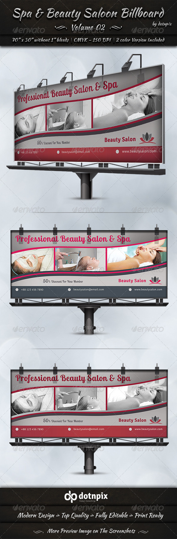 GraphicRiver Spa & Beauty Saloon Billboard Volume 2 7831392