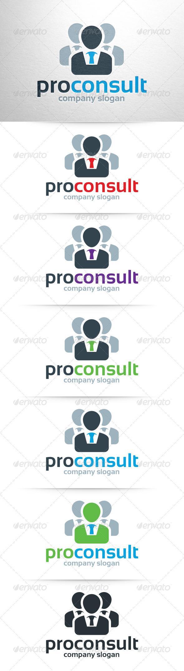 GraphicRiver Pro Consult Logo Template 7832365