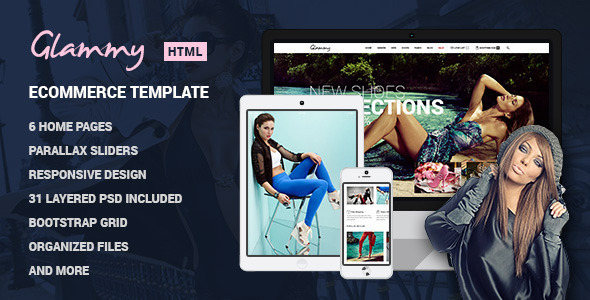Ecommerce Templates - Glammy - <p>eCommerce HTML Premium Template </p>