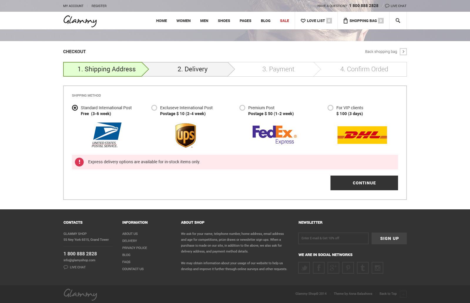 Glammy - eCommerce HTML Premium Template