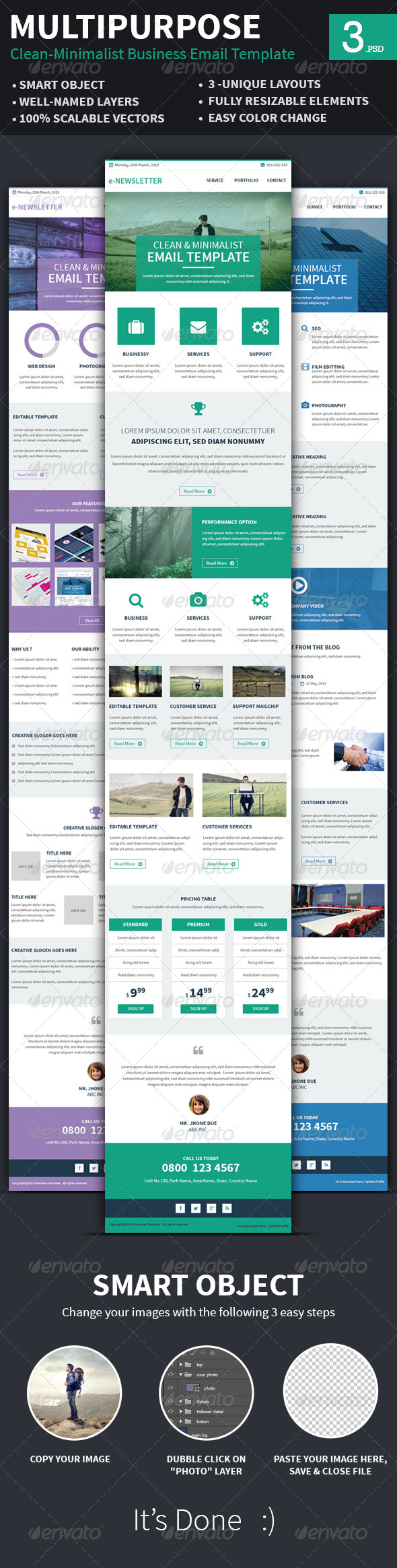 GraphicRiver Clean Minimalist e-Newsletters 7816504
