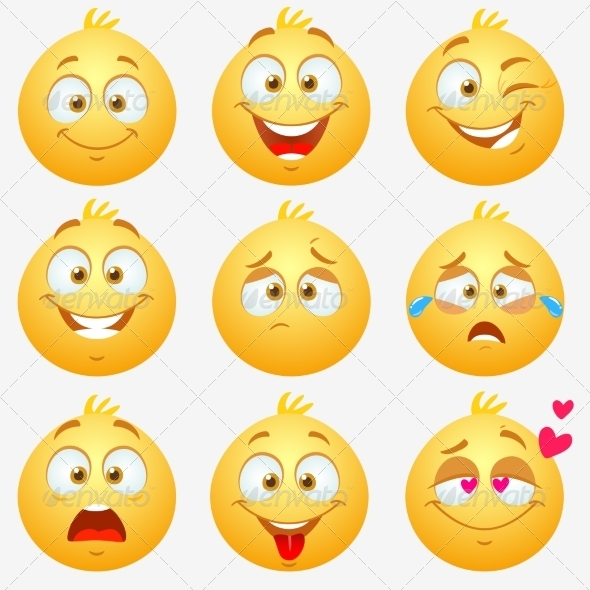 GraphicRiver Emotions Smilies 7832618