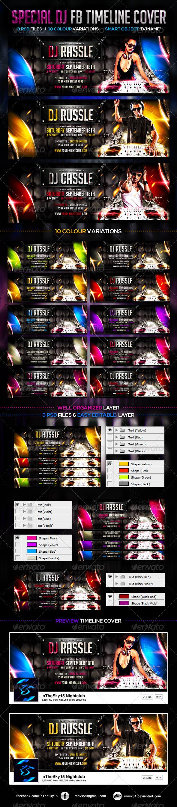 GraphicRiver Special DJ FB Timeline Cover 7818402