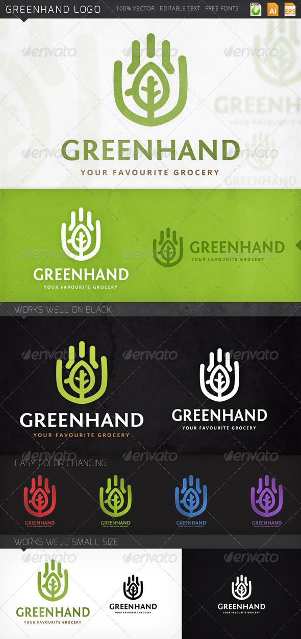 GraphicRiver Greenhand Logo 7835478