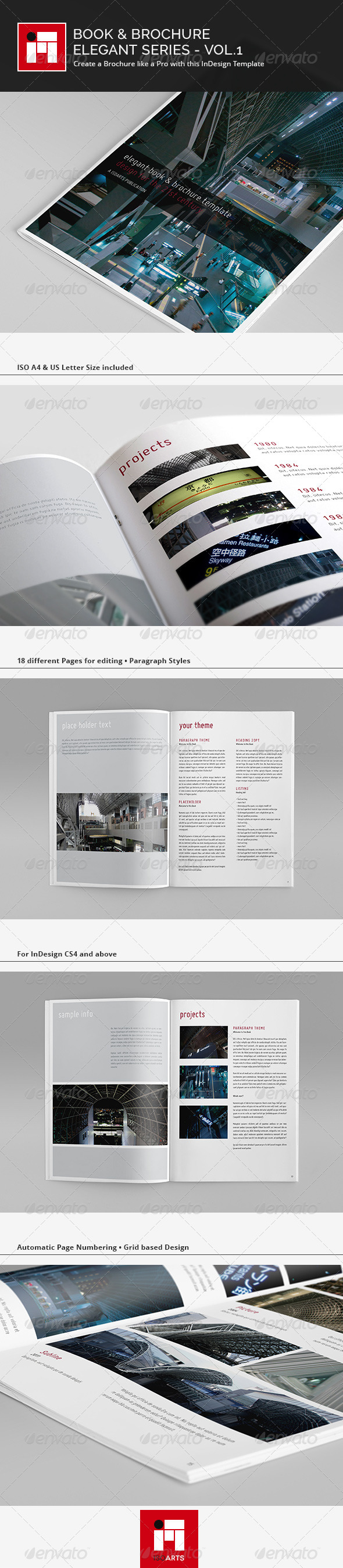 Elegant Series • Portrait Brochure Template - Corporate Brochures