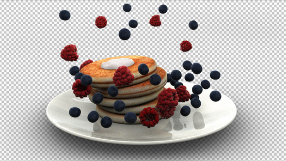 Pancake Falling Into Plate