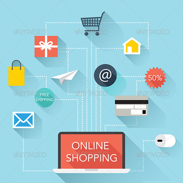 GraphicRiver Online Shopping Illustration Vector 7835789