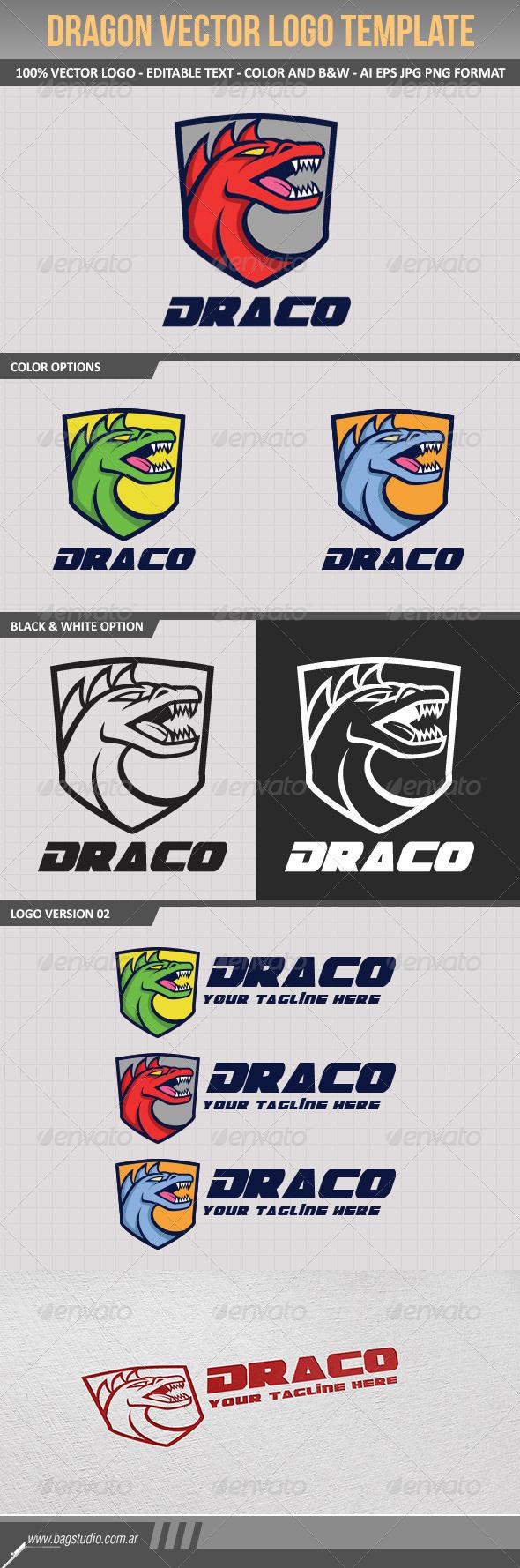 GraphicRiver Dragon Vector Logo Template 7835795