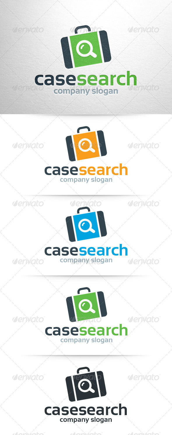 GraphicRiver Case Search Logo Template 7835915