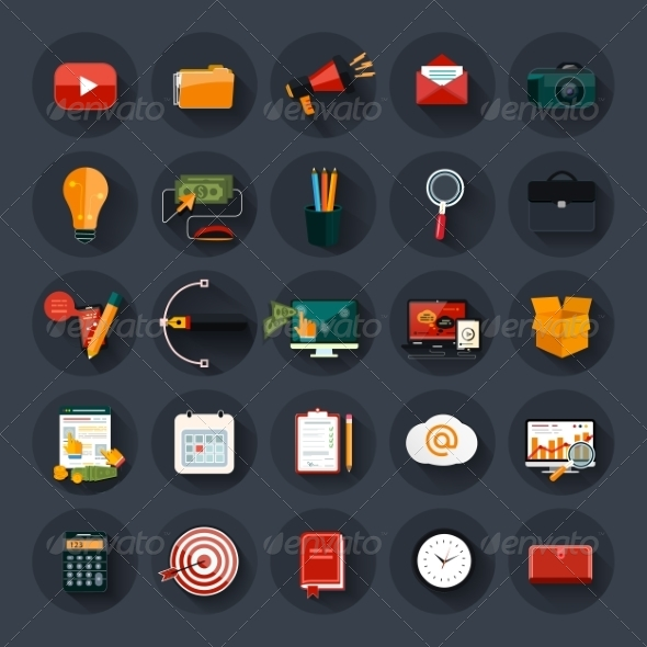 GraphicRiver Web Design Business and Marketing Icons 7835985
