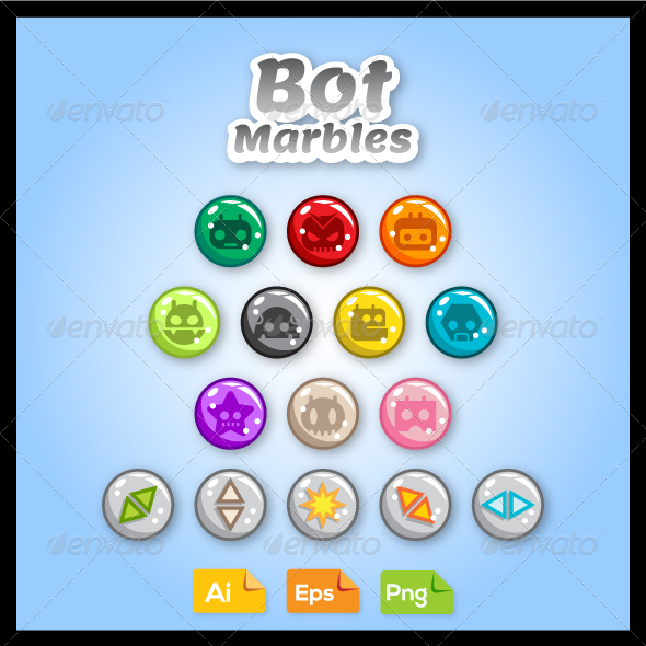 GraphicRiver Game Asset Bot Marbles 7836332