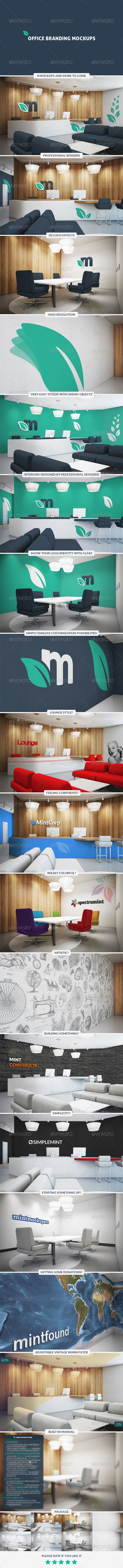 GraphicRiver Office Branding Mockups 7800737
