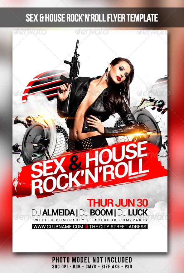 GraphicRiver Sex House Rocknroll Flyer 7811212