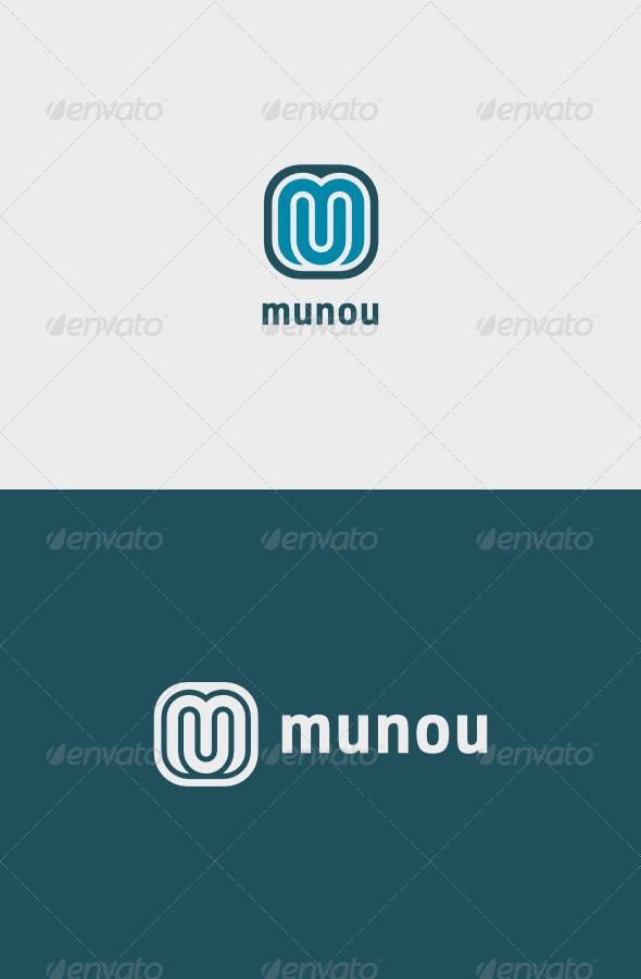 Muonu Logo - Letters Logo Templates