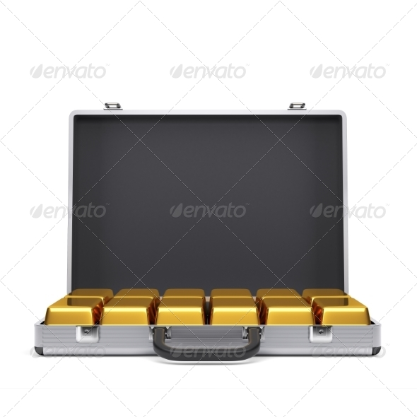 GraphicRiver Metal Case with Gold Bars 7836767