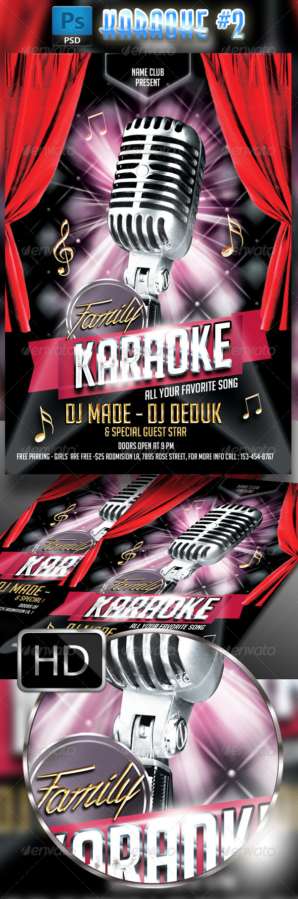 GraphicRiver Karaoke Flyer Template #2 7836787