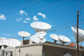 Sattelite dishes on a roof - PhotoDune Item for Sale