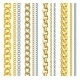 Set of Realistic Gold and Silver Chains - GraphicRiver Item for Sale