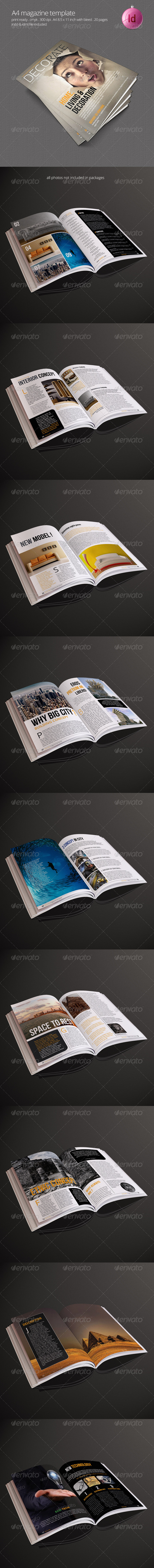 GraphicRiver A4 Magazine Template 7837132