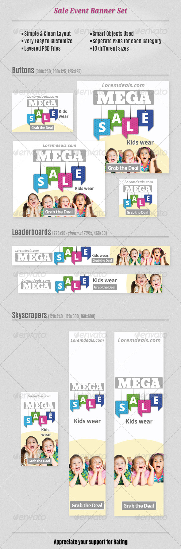 GraphicRiver Sale Event Banner Set 7837329