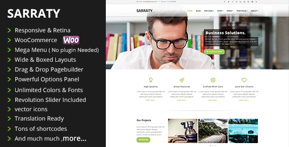 Sarraty Retina Responsive Multi-Purpose Theme