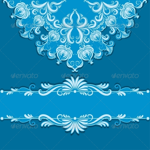 GraphicRiver Vector Pattern and Frame 7837443