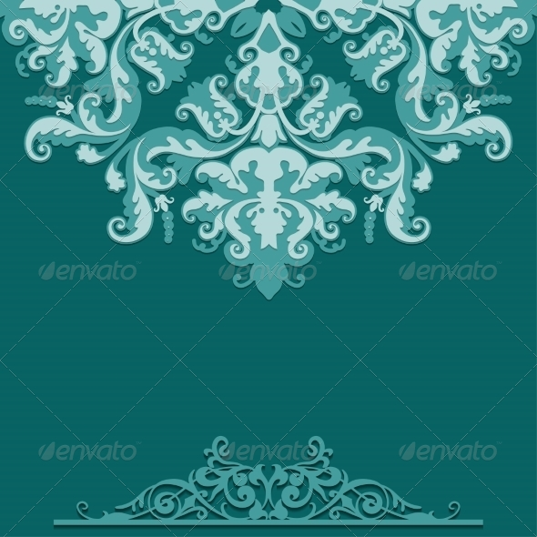 Paper Background with Damask Ornament