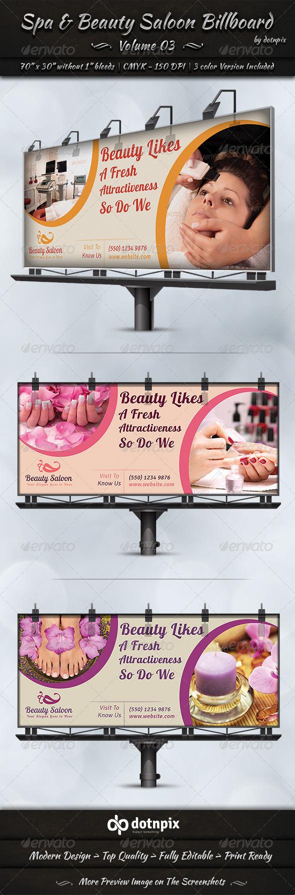 GraphicRiver Spa & Beauty Saloon Billboard Volume 3 7837453