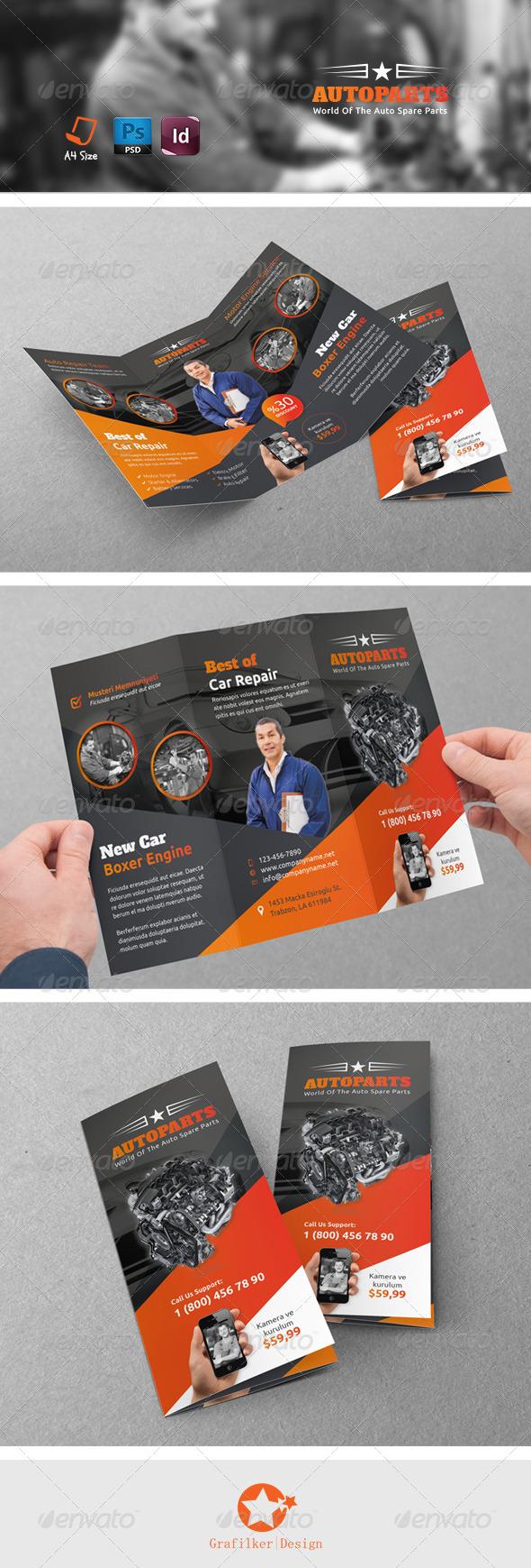 GraphicRiver Auto Repair Tri-Fold Templates 7837459
