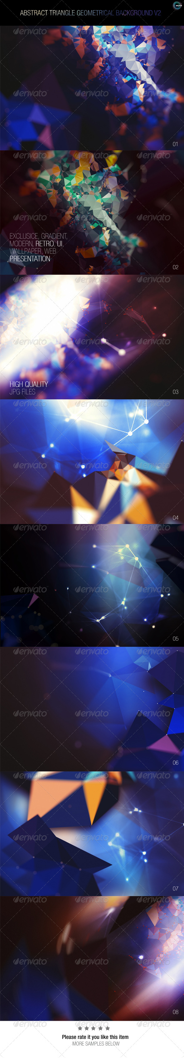 GraphicRiver Abstract Triangle Geometrical Background V2 7837539