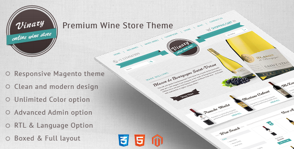 Ecommerce Templates - Vinary - <p>Premium Wine Store Theme </p>