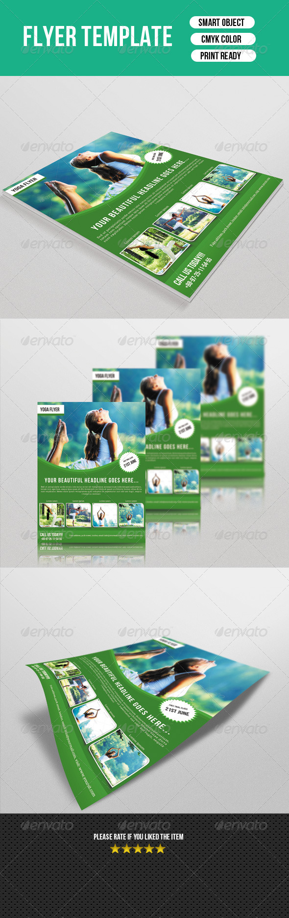 GraphicRiver Yoga Center Flyer-V40 7837563